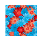 floral inspired red and blue seamless background with no join poster