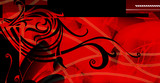 Red and black backdrop. poster