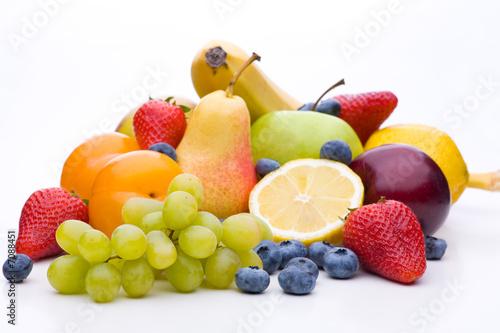 Bunte Mischung aus vielen verschiedenen Sorten von Obst © unpict