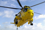 Sea King rescue helicopter poster