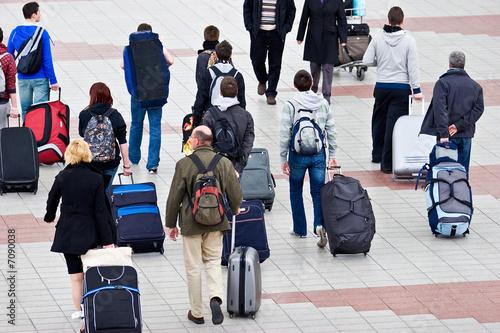 Leinwanddruck Bild Travel group