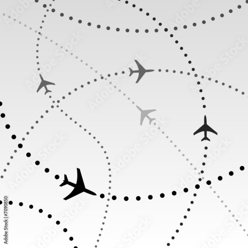 Airplanes Airlines Flight Paths Commercial Travel