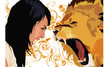girl vs lion