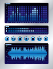 Sound mixer blue digital display