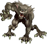 Snarling Scary Werewolf poster