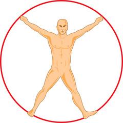 Human figure spread eagled