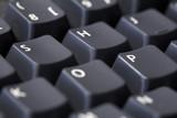 SHOP spelled on keyboard poster
