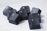 SECURITY spelled with keyboard keys poster