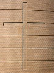Cross on Brick Wall