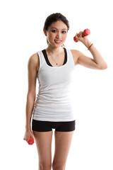 Sporty asian woman