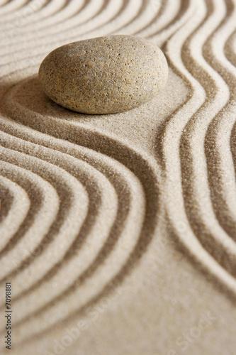 Leinwandbild Motiv Zen stone