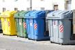 Leinwandbild Motiv Müllboxen