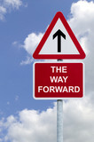 The Way Forward sign in the sky poster