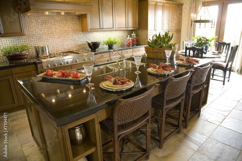 Designer Kitchen Tiles on Modern Designer Kitchen With Brown Tiles     Rodenberg  7104471   See