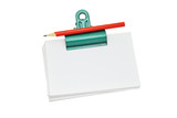 Bulldog clip holding loose memo papers poster