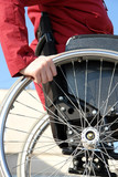 Wheelchair woman poster