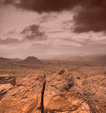 Atlas mountains in Morocco poster