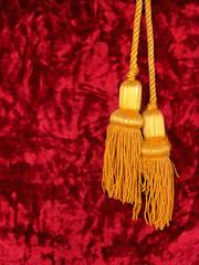 Red velvet with two golden tassels