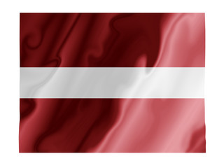 Latvia fluttering
