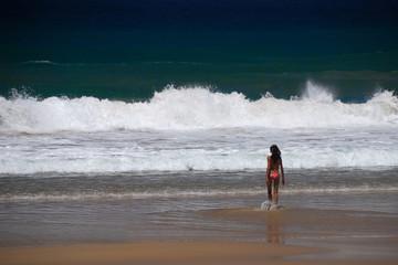 Seule vers l'ocean