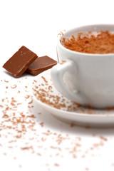 cup of hot cappucino