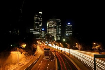 Drag car lights in Sydney
