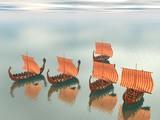 Viking Fleet of Ships poster