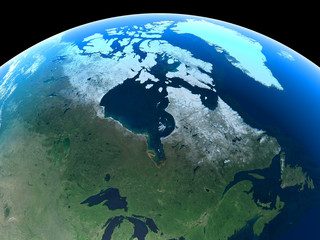 Canada as seen from space