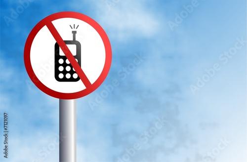 no mobiling sign