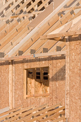 New house being built - architectural detail