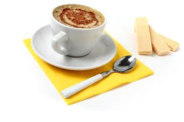 white coffee and chocolate