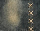 Closeup of denim cloth poster