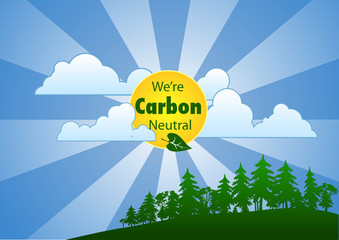 We're Carbon Neutral (Landscape)