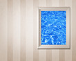 canvas print picture blue water