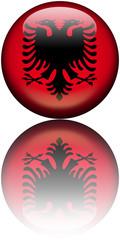 Drapeau Albanie 3D reflet