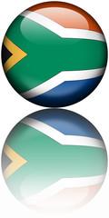 Drapeau Afrique du Sud 3D Reflet