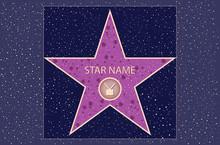 Hollywood Walk of Fame: star de la télévision dans le vecteur
