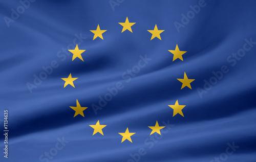 Leinwanddruck Bild Europäische Flagge