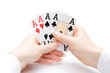 playing cards - hand of four aces - 7136203