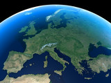 Fototapety Europe as seen from space