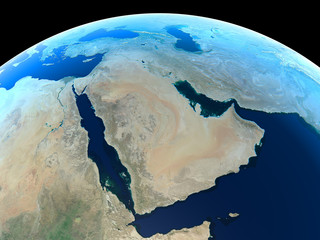 The MIddle East as seen from space