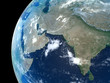 Middle East and parts of central Asia as seen from space