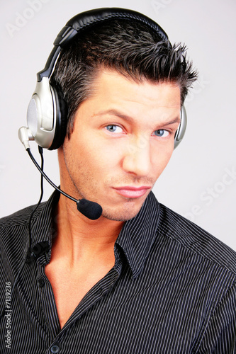callcenter hotline headset mann telefon service support