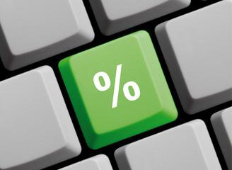 Prozentzeichen auf Computer Tastatur