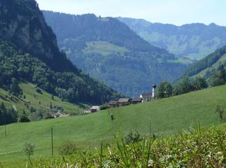 Vallée dans les Alpes suisses
