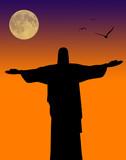 religious monument in Brazil poster
