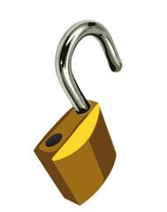 cadenas ouvert - sécurité