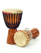 canvas print picture - Two African djembe drums