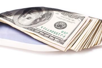 Dollars in envelope