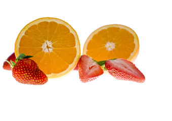 strawberry and orange